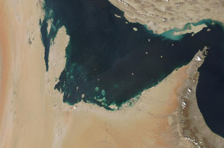 MODIS-Terra image of the United Arab Emirates