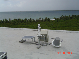 A view of the sun photometer
