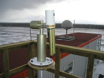 A view of the sunphotometer.