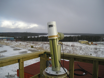 Another view of the sunphotometer.