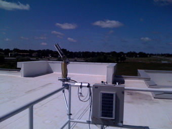 CIMEL installed on roof of Alberta Water and Environmental Science Building