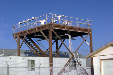 A view of the instrument platform.