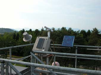 A view of the sunphotometer at the Ispra site
