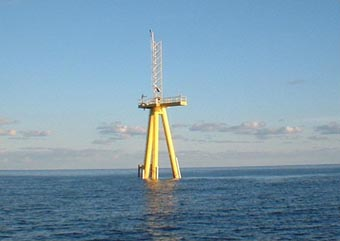 A view of the instrument on the Air-Sea Interaction Tower