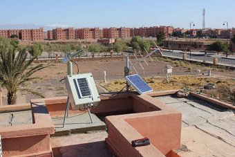 A view of Ouarzazate from the sun photometer site.