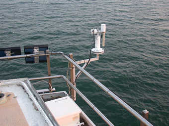 Current view of the SeaPrism sunphotometer since September 20, 2006.